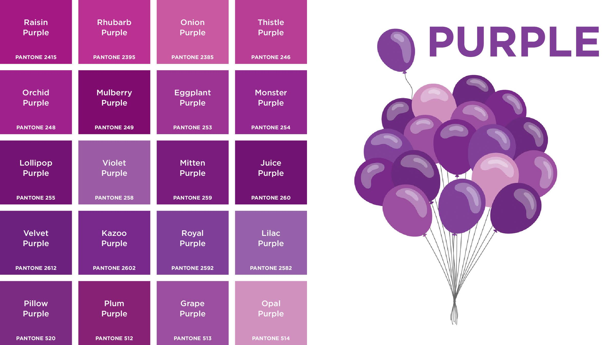 Purple Colors Names Picture Gallery