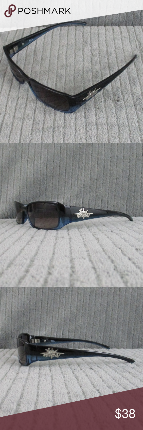 ee16bab0420f8 Nice Sunglasses by Divine Black Fade Smoke Grad Divine Eyewear Nice  sunglasses with black to blue composite frame and smoke gradient composite  lens.