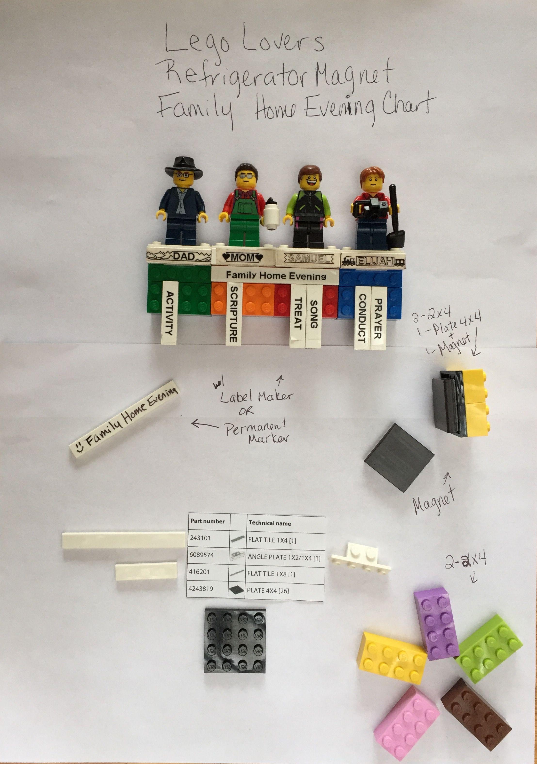 Lego Family Home Evening refrigerator magnets | Family Home Evening ...
