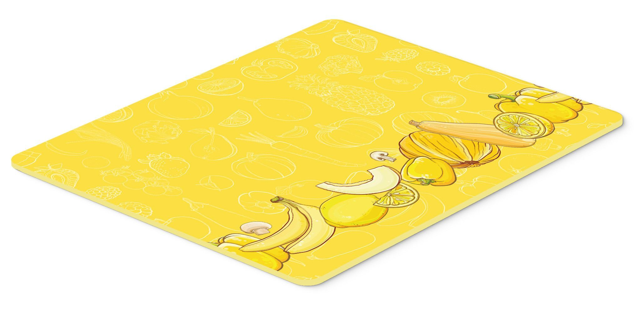 fruits and ve ables in yellow kitchen or bath mat 20x30