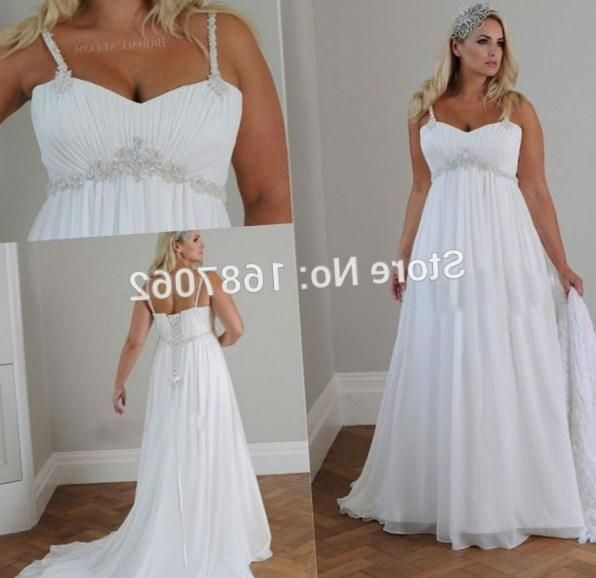 Image Result For Plus Size Spaghetti Strap Empire Waist Wedding Dress