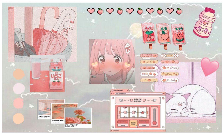 Peach Aesthetic Desktop Wallpaper Anime Aesthetic Wallpaper Desktop Animeae In 2021 Cute Desktop Wallpaper Cute Laptop Wallpaper Aesthetic Desktop Wallpaper