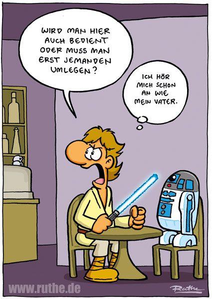 Ruthe De Home Ruthe De Star Wars Karikatur Cartoon Witze