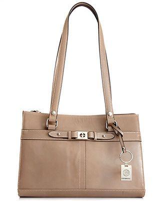 Giani Bernini Handbag Glazed Triple Entry Satchel Handbags Accessories