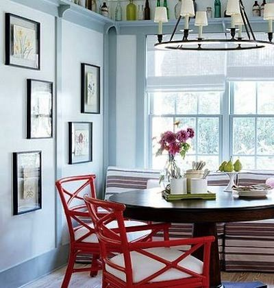Color Combo Crush: Rusty Rose Red and Icy Pale Blue #kitchen ...