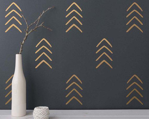 Arrow Wall Decals   Geometric Decals, Nursery Decals, Unique Vinyl Decals, Modern  Wall Decals, Arrow Decals