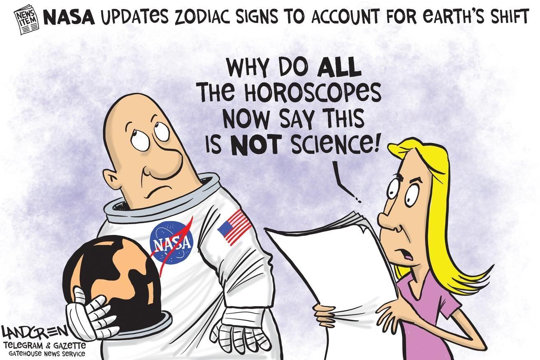 Landgren cartoon NASA realigns the zodiac Nasa, Cartoon