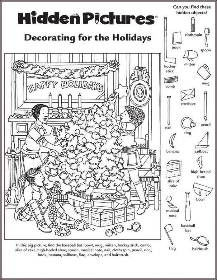 Hidden Picture Worksheet For Middle School Hidden Pictures Hidden Picture Puzzles Christmas Worksheets Find hidden picture math worksheets