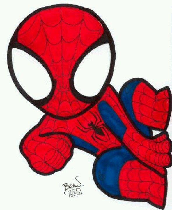 Baby Spiderman Svg : spiderman, Spiderman, Drawing,, Superhero,