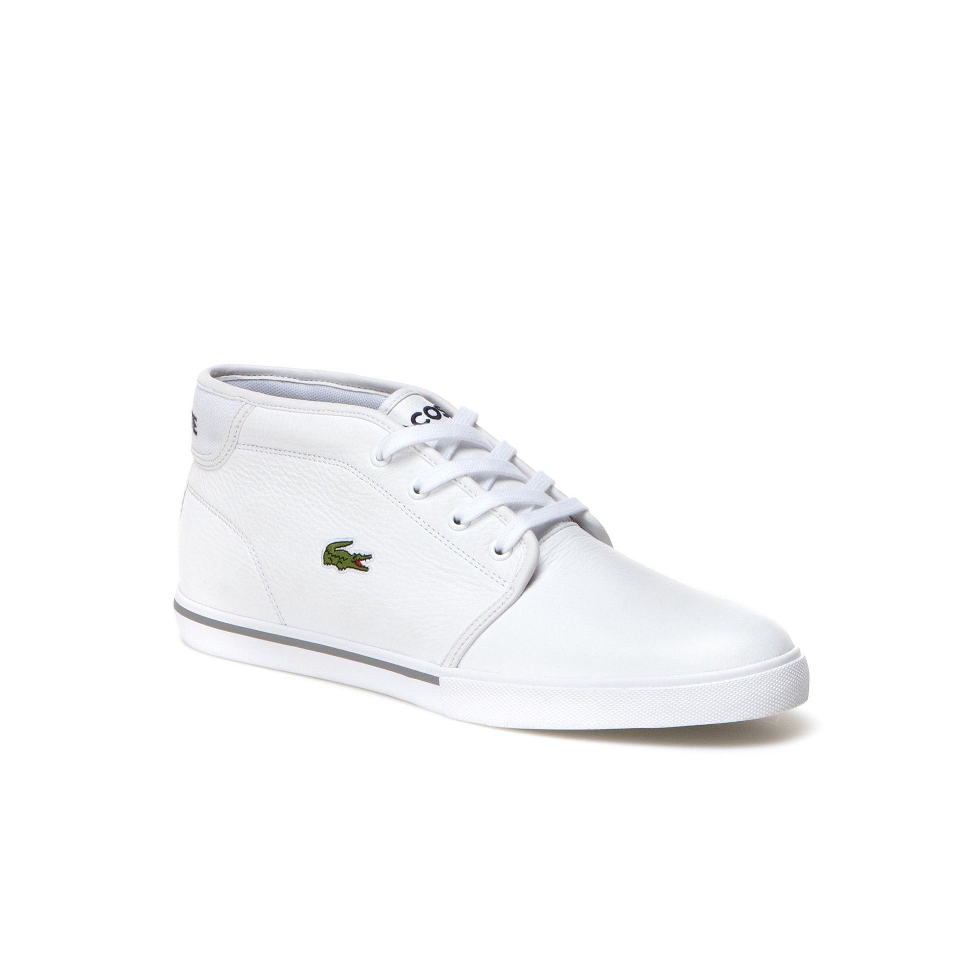09380f70f9734 LACOSTE Men s Ampthill Piping Leather Sneakers - white.  lacoste  shoes