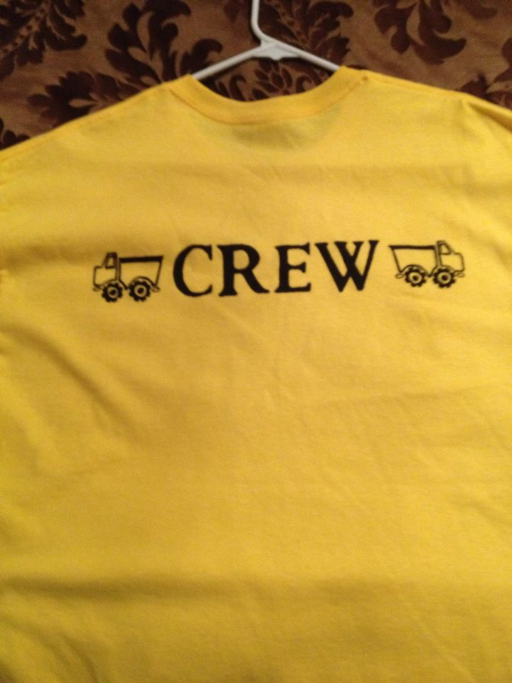 Adult Custom Construction Birthday Party Shirt For Parents Of The Boy