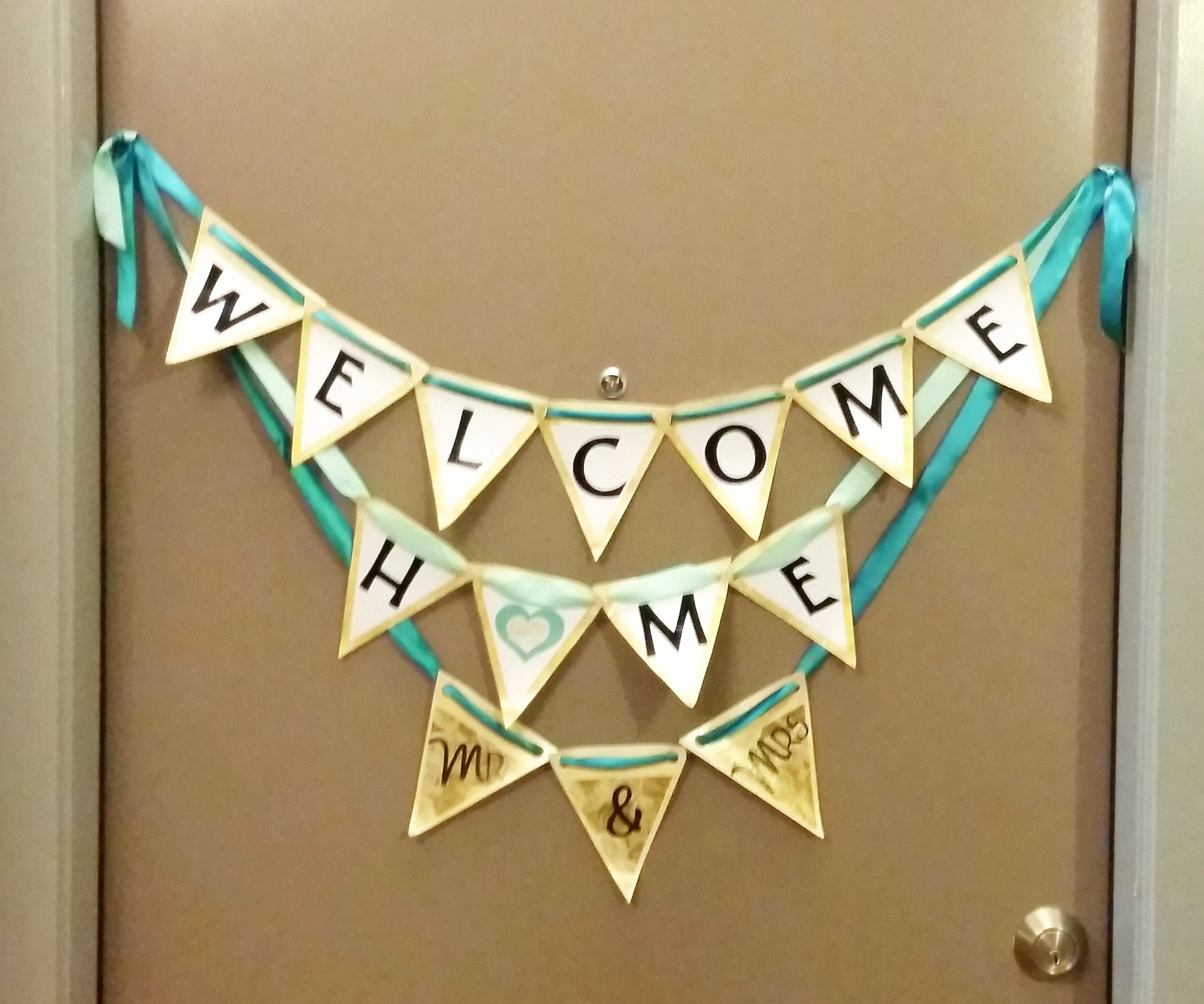 Welcome Home Mr & Mrs Banner | Welcome home baner | Pinterest | Banners
