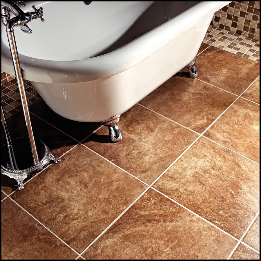 Shop Style Selections Mesa Rust Porcelain Floor Tile