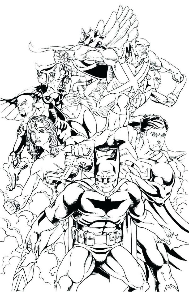 Printable Justice League Coloring Pages