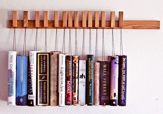 Short Stories Hanging Book Rack Bookshelves Diy Book Racks Wooden Books