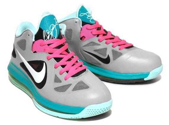 Nike LeBron 9 Low 'Miami Vice' Customs