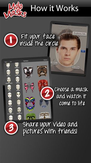 Mojo Masks - Add Fun Face FX to your photos/videos and share