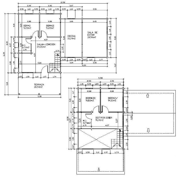 Plano de casa acotado pinterest planos de for Pie de plano arquitectonico pdf