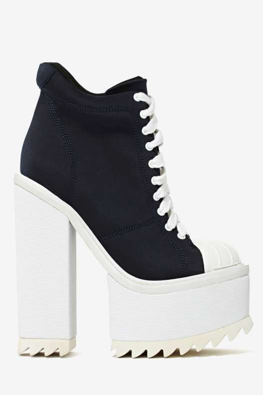 b7efc9a9aa7 Jeffrey Campbell Hoops Neoprene Platform Boot - Shoes