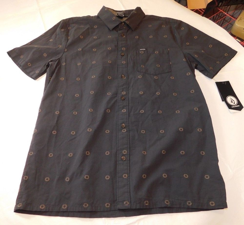 Volcom Mens Trenton Short Sleeve Button Up Shirt