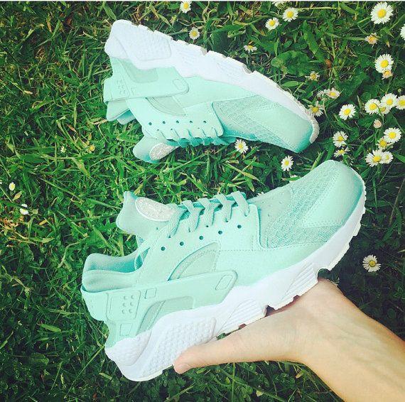 new product 4367a a942b Mint Nike Huarache Mint Green Huarache Unisex Nike by JKLcustoms