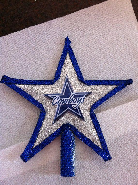 Dallas Cowboys Christmas Tree Topper by Jewlsbasement on Etsy, $12.99 - Dallas Cowboys Christmas Tree Topper By Jewlsbasement On Etsy