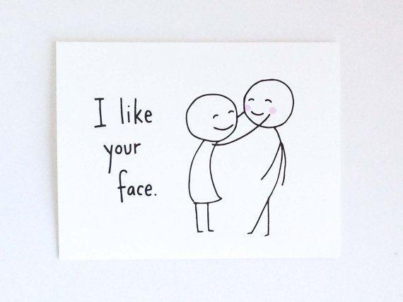 Niedliche Liebeskarte für Freund / / Geburtstagskarte für Mann / / romantische Geburtstagskarte / / lustige Valentinstagskarte / / ich mag Ihr Gesicht   - Karten - #Freund #für #Geburtstagskarte #Gesicht #ich #Ihr #Karten #Liebeskarte #lustige #Mag #Mann #niedliche #Romantische #Valentinstagskarte