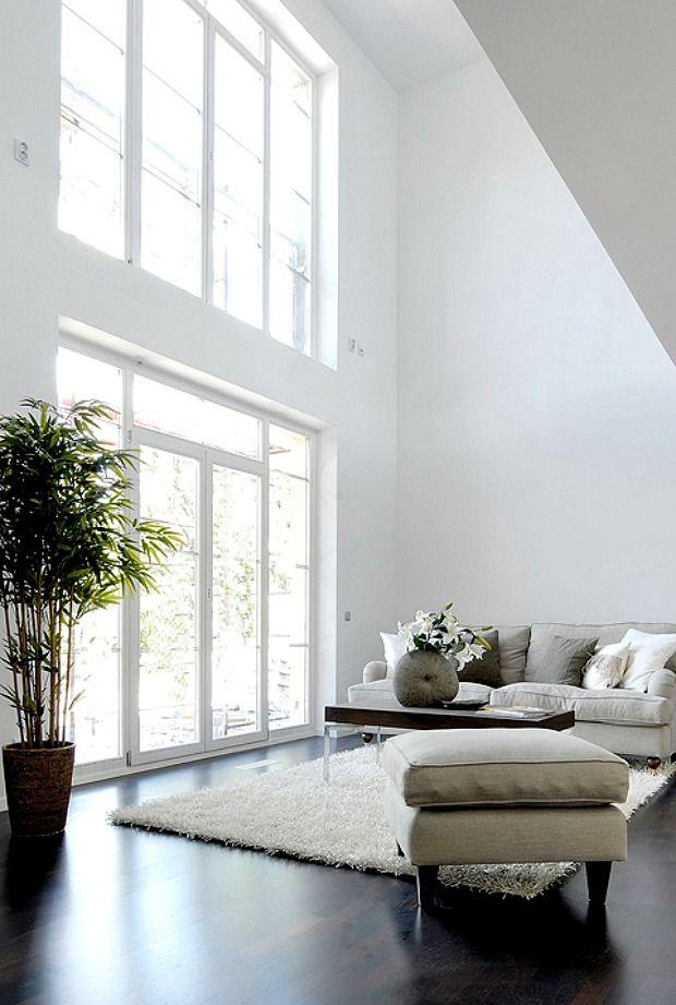 Mooie woonkamer - living room   Pinterest - Plafond, Hoge plafonds ...