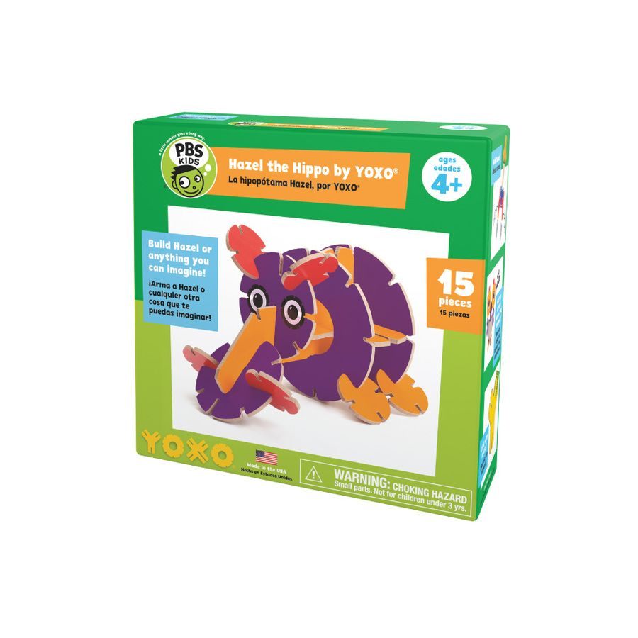Kids toys images  PBS KIDS Hazel the Hippo Creative Building Toy by YOXO pbskids