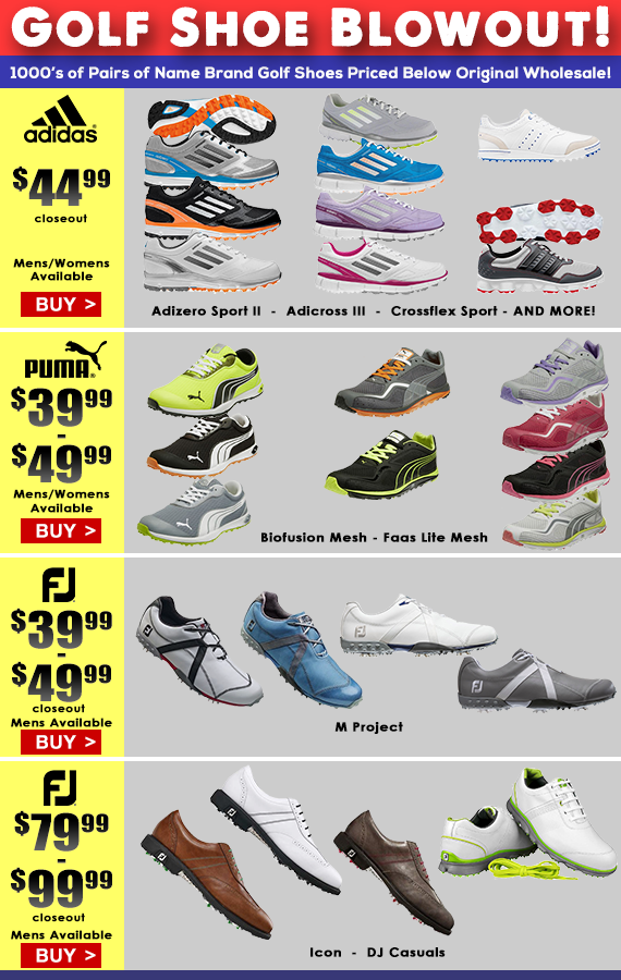 Our Golf Shoe Blowout Sale is going on
