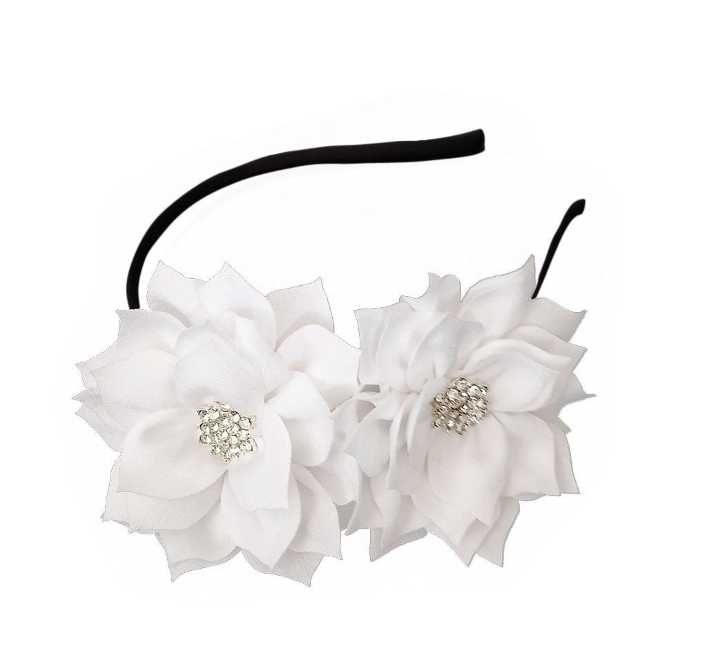 Coolwife Fascinator Headband Hair Clip Lotus Flower Bridal Headpieces Wedding Party Headwear