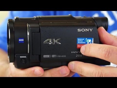 Sony FDR-AX33 4K (UHD) Camcorder Review  Plus Sample Video
