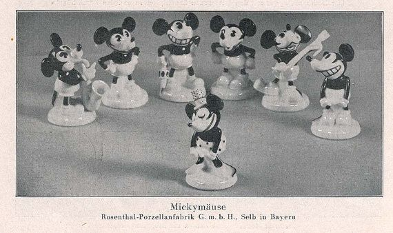 Image result for rosenthal 1930 mickey mouse