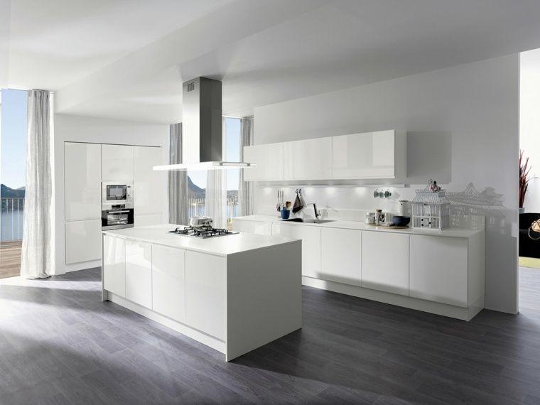 Cuisine blanche laqu e 99 exemples modernes et l gants for Exemple cuisine blanche