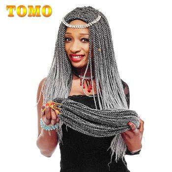 TOMO 14 16 18 20 22Inch 30Roots/Pack Crotchet Braids 16 Colors Synthetic Senegalese Twist Braiding Hair Crochet Hair Extensions #crotchetbraids