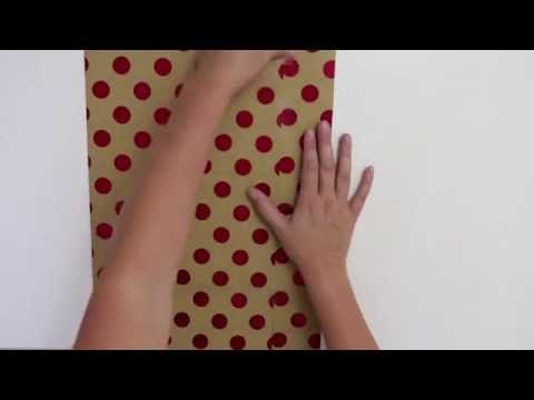 how to make a big bow out of wrapping paper