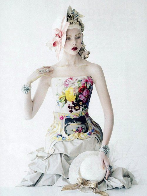 Frida Gustavsson in 'Face Value' by Tim Walker for American Vogue January 2012
