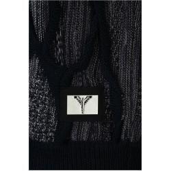 Photo of Pullover mit Rundhalsausschnitt und Ausschnitten, schwarz-weißer Carlo Colucci