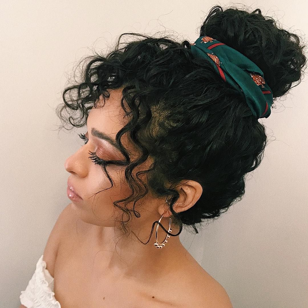 A Bevy Of Easy Hairstyles To Ensure Your Stubborn Curls Stay On Their Best Behavior From Our Brazilian Hair Wigs Curly Hair Styles Naturally Curly Hair Styles