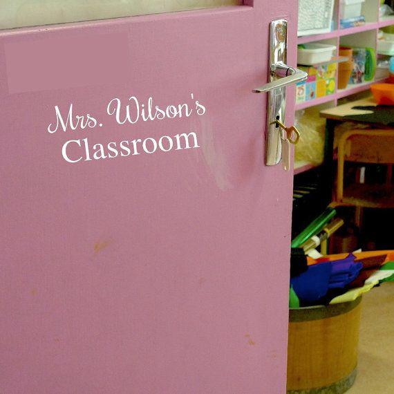 Teacher Name Door Sticker Teacher Name Door Decal Classroom Door Sticker Classroom Door Decal Teacher Gift