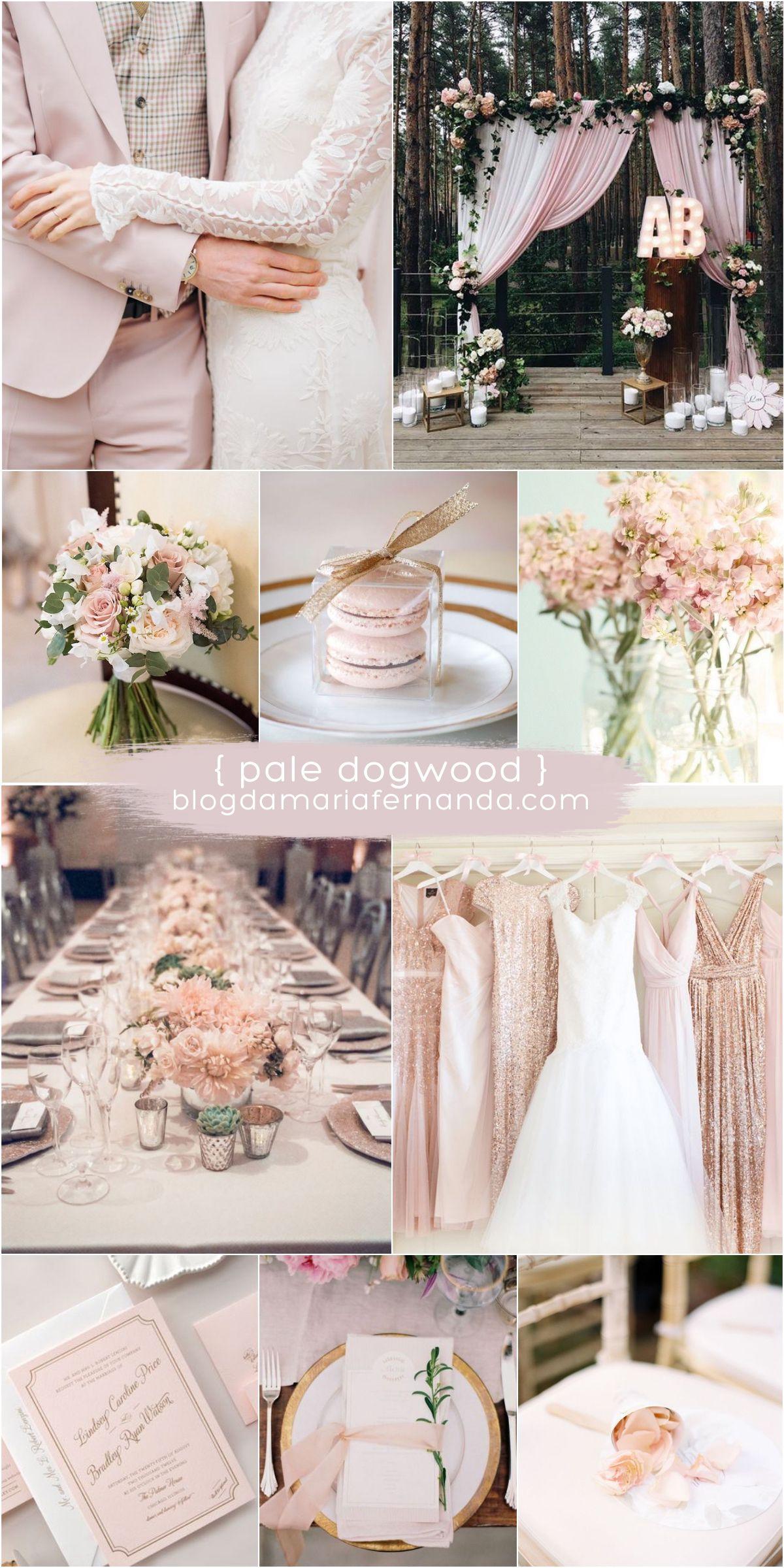 5daa42a3815fc Decoração de Casamento   Paleta de Cores Pale Dogwood