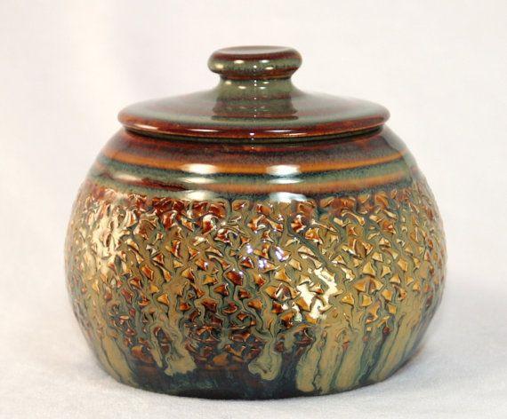 Ceramic Jar With Lid Handthrown Pottery Ceramic Jars Hand