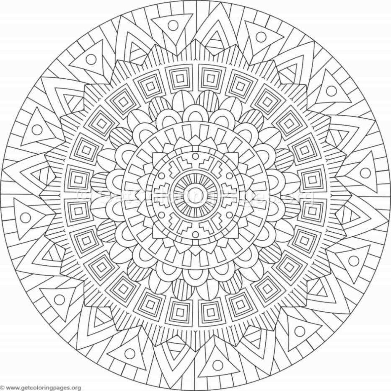 Tribal Mandala Coloring Pages 261