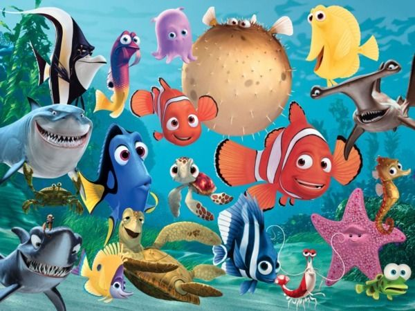 Disney Pixars Finding Nemo Characters Are Pictured And Named Along With A Picture Of What The Real Fish Looks Like Fishes Scientific