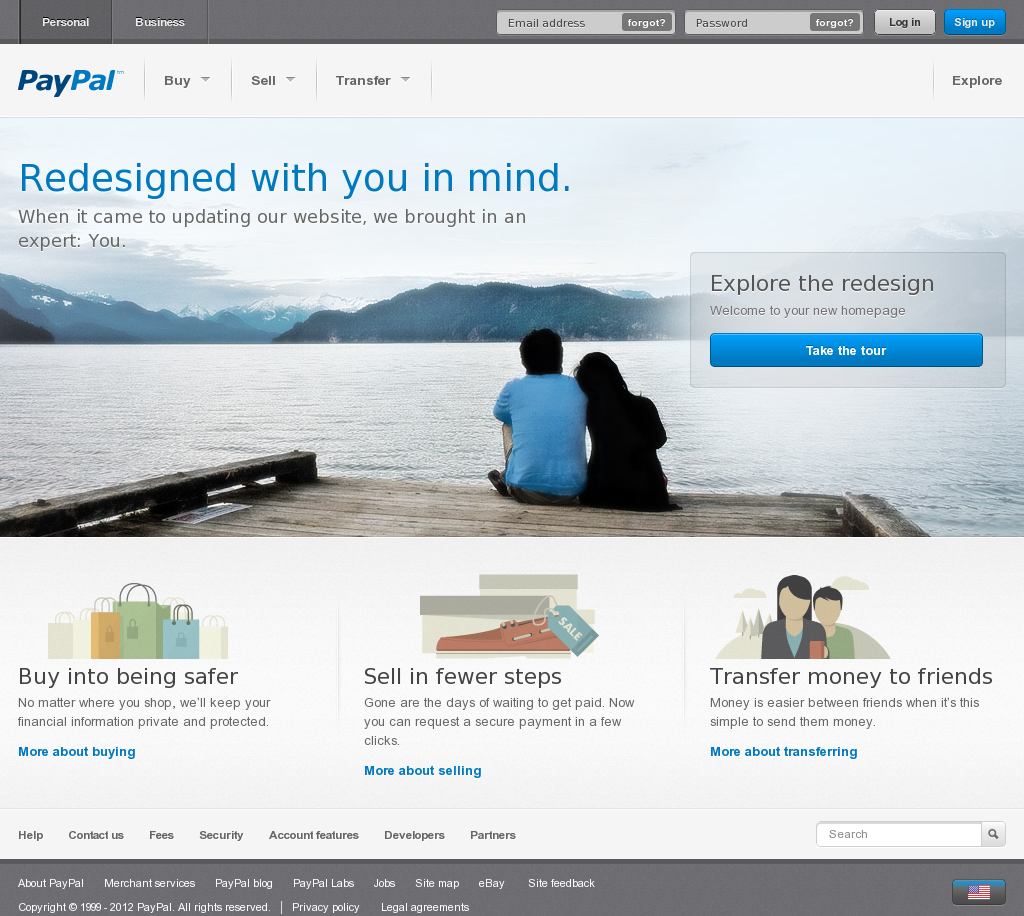 Website Https Www Paypal Com Webapps Mpp Home Snapped On Snapito Paypal Business Person Website Redesign