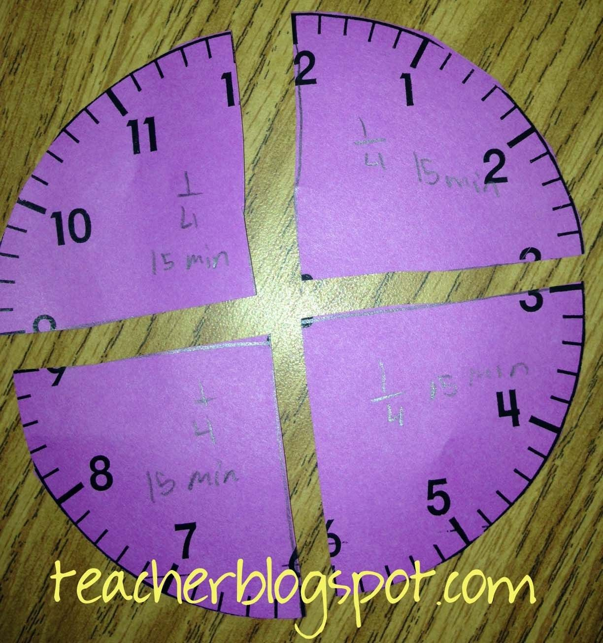 Teach Time And Fractions At The Same Time