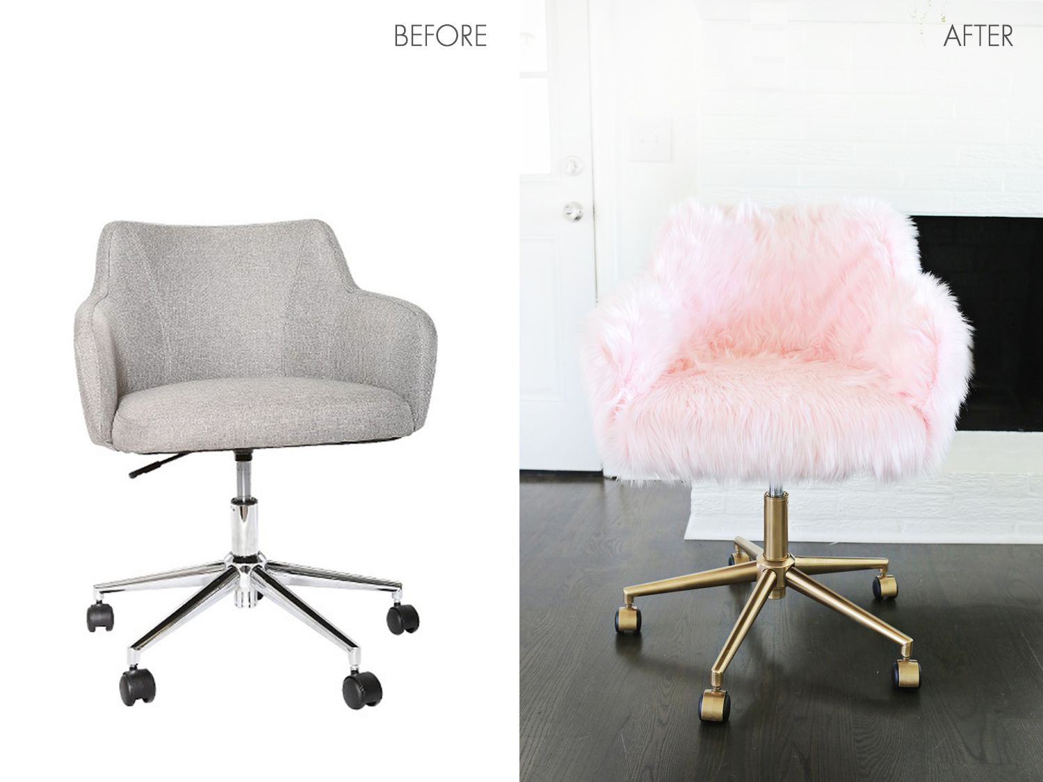 Moderne Schreibtischstühle Project Restyle Office Chair Makeover Home And Diy