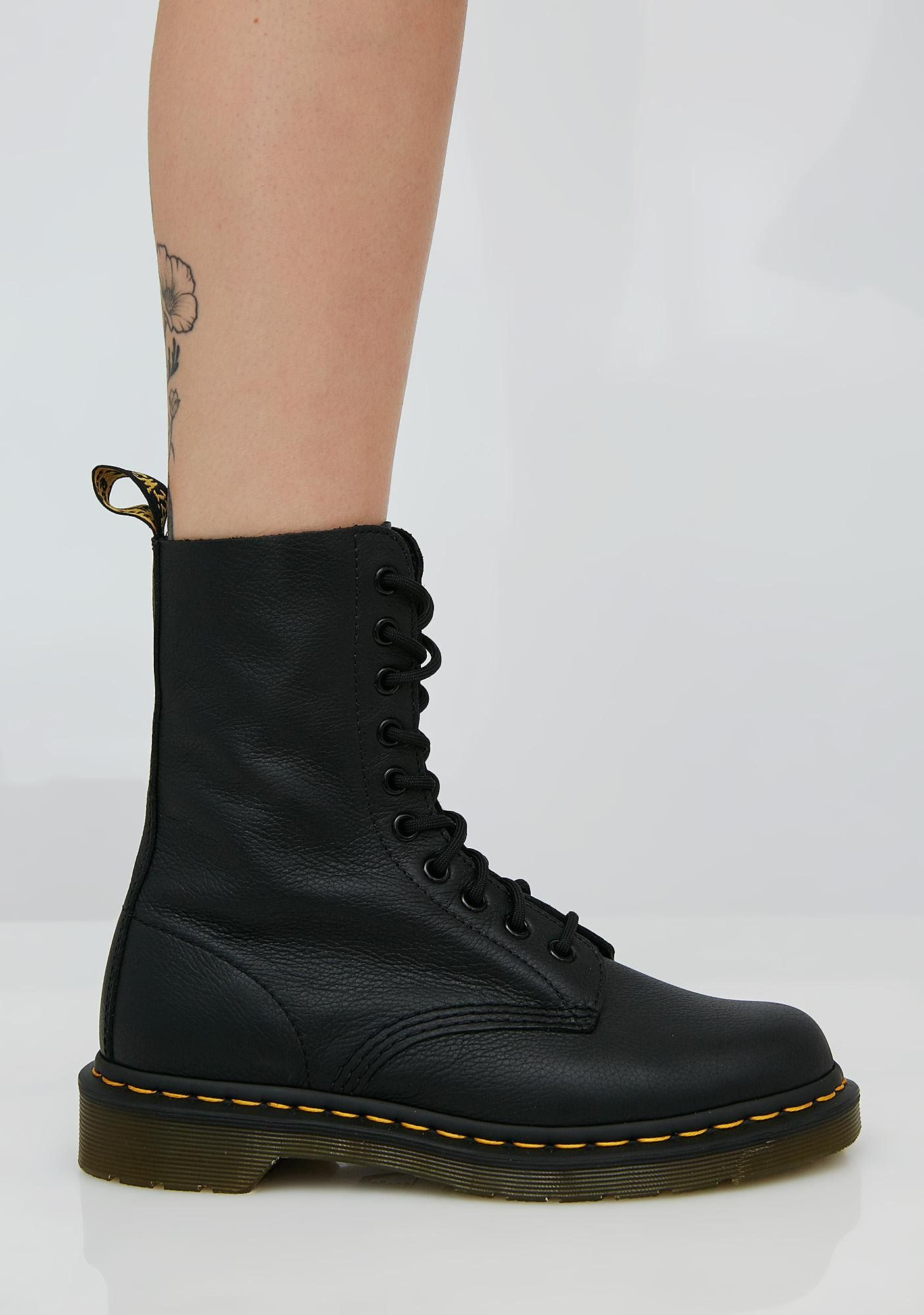 Stomp all around with these sikk combat boots with round toes a563d93e6ade