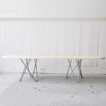 love hairpin legs! and it's a cincy company!     Delta Bench Maple I, $795, now featured on Fab.