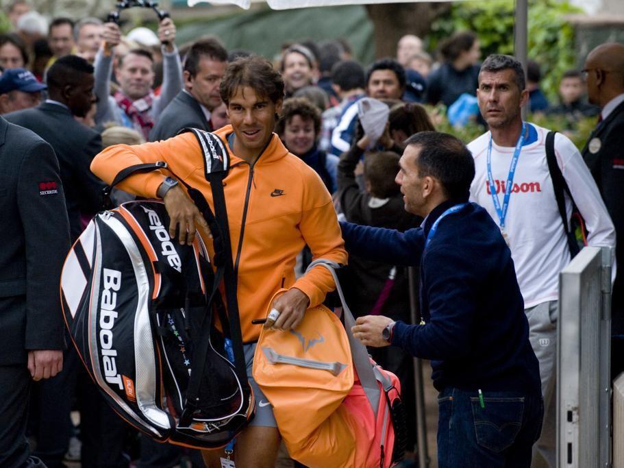 PHOTOS: Rafael Nadal's first practice in Barcelona | Rafael Nadal Fans